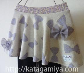 通学・通園など普段着にぴったりのスカート付きスパッツ型紙
