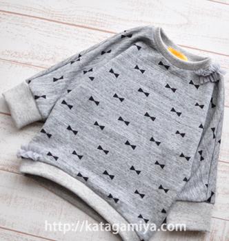 通学に便利な子供服サクサクトレーナー型紙と簡単な作り方