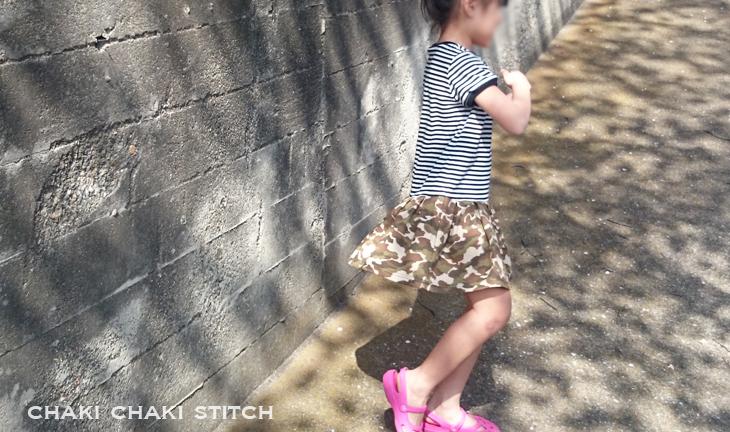 子供ワンピ—ス型紙と簡単な作り方