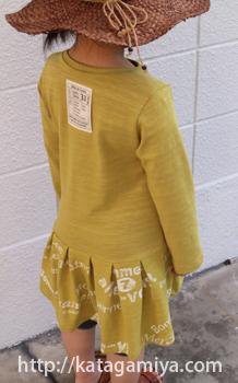 子供服型紙・簡単なTシャツワンピ型紙