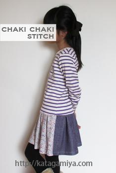 通学・通園など普段着にぴったりの女の子ワンピース子供服型紙